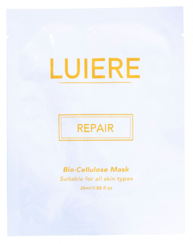 luiere face mask sheet white