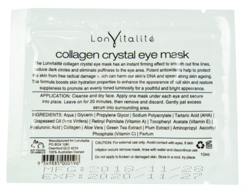lonvitalite collagen eye mask