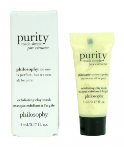 philosophy exfoliating clay mask white box skincare tube