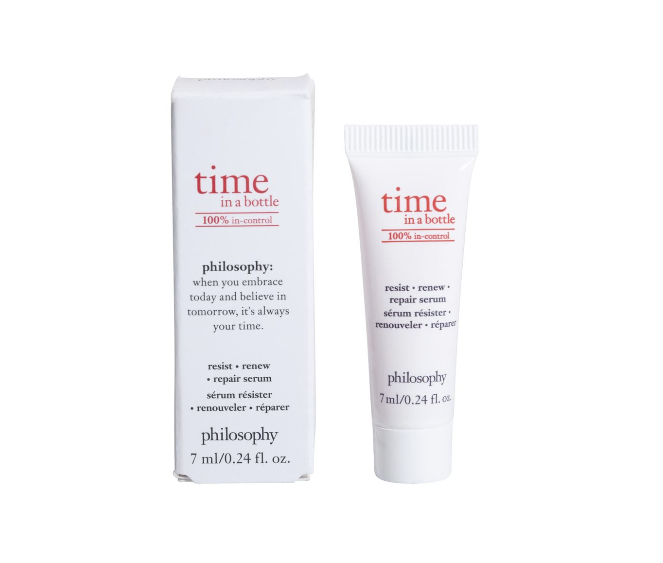 philosophy time in a bottle 100% in-control serum